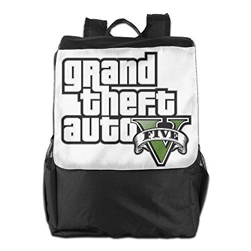 GTA V Grand Theft Auto Five Logo Daypack Travel Backpack For Men Women Boy