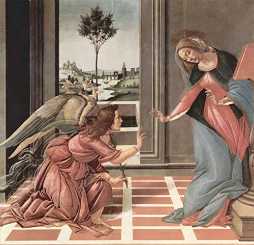 Home Comforts Laminated Poster Botticelli, Sandro - Annunciation Vivid Imagery Poster Print 11 x - Botticelli Annunciation