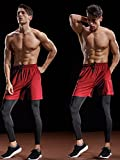 "Neleus Men's 7"" Workout Running Shorts With"