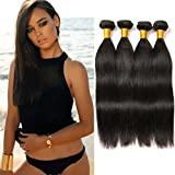 4 Bundles Brazilian Straight Grade 10a Human Virgin Hair Straight Long Bundles Sew in Weave Natural Color Prime 2 Day Shipping 10 12 14 16 Inches Review