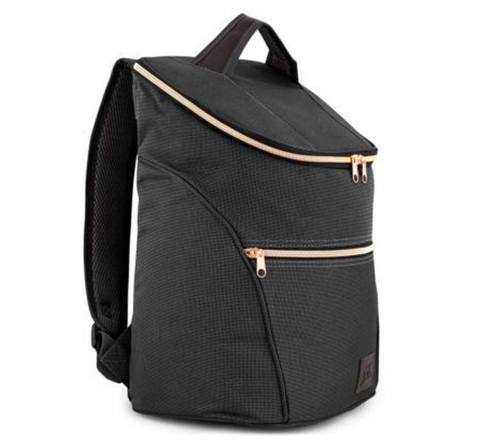 Just Smart Kitchenware Chic Insulated Backpack, 20 Litre, Large Lunch Cooler Bag - Stylish for Work, Events, Days Out, Picnics, Beach & Travel (Rose Zipper) by Just Smart Kitchenware