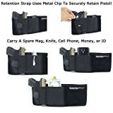 Ultimate-Belly-Band-Holster-for-Concealed-Carry-Black-Fits-Gun-Smith-and-Wesson-Bodyguard-Glock-19-17-42-43-P238-Ruger-LCP-and-Similar-Sized-Guns-For-Men-and-Women