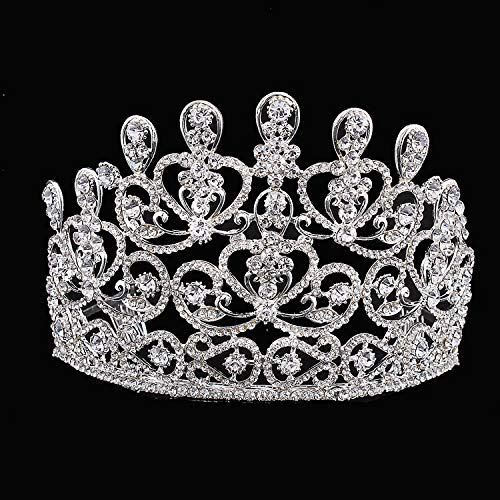 Wedding Crown, Beautiful headdress/Top Ornaments Bridal Crown Hair Ornaments Wedding Accessories Diamond Headwear Wedding Gowns And Accessories. by Junson (Image #3)