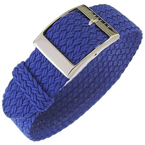 Eulit Palma 20mm Royal Blue Perlon Watch Strap