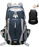 Colisal 40L Hiking Backpack Waterproof Trekking Rucksack with Rain Cover and Hydration Daypack Women Men Camping Cycling Traveling Climbing Running Walking Sport Outdoor Large Blue