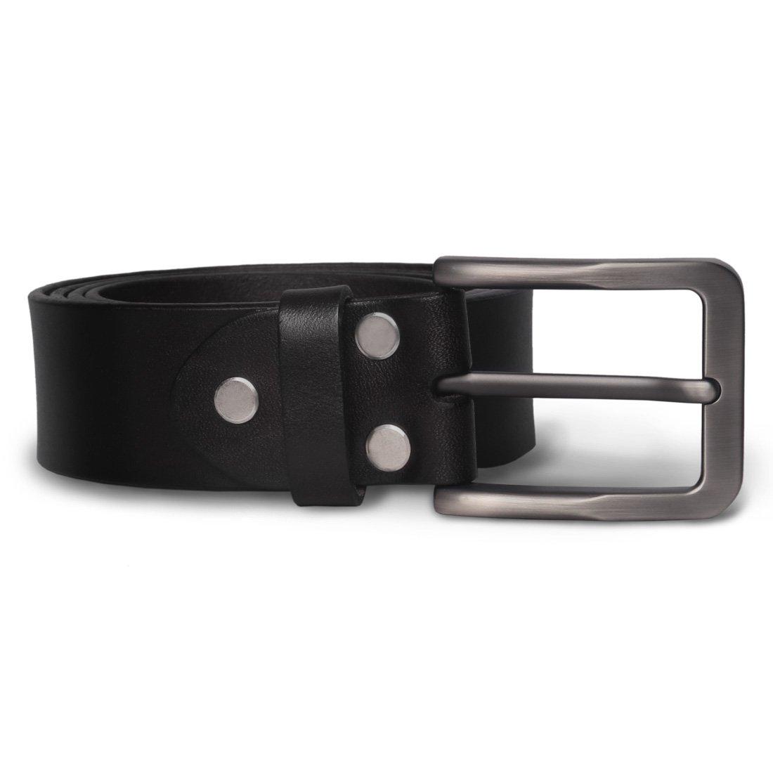 Mens Leather Belt M.R Black Genuine Leather Belt