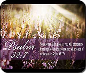 Psalm 32:7 Bible Verse Large Mousepad Mouse Pad Great Gift Idea by mcsharks