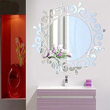 Schon Kicode Moderne Stilvolle Mode Kunst Entwurf Removable DIY 3D Spiegel  Wandtattoo Wandaufkleber Für Schlafzimmer