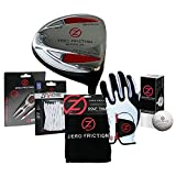 Zero Friction 6-pc Golf Driver & Accessory Set (Orange Left Hand Glove)