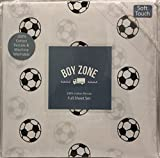 Boy Zone SOCCER BALLS 4-pc. FULL Sheet Set | 100% Cotton