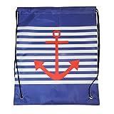 Nylon Drawstring Backpack, Nautical Anchor Print