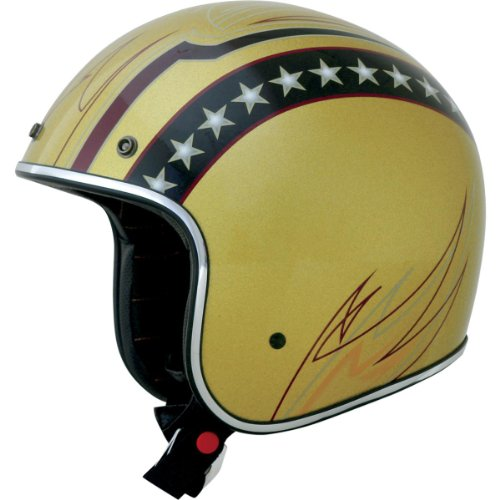 Afx Fx 76 Lines Motorcycle Helmets Gold X Small
