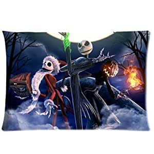 Custom Nightmare Before Christmas theme Two Sides Printed for 20X30 inches Zippered Pillow Case Cover