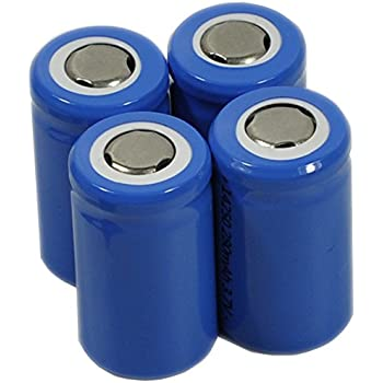 Amazon.com: 3.7V Rechargeable 1/2AA Lithium ion Battery
