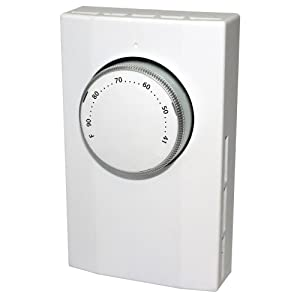 KING K101 Single Pole Line Voltage Thermostat 120Volt/240Volt, White