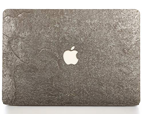 - WOODWE Real Stone MacBook Skin for Mac Pro 13 inch with/Without Touch Bar | Model: A1706/A1708/A1989; Late 2016 - Mid 2018 | Natural Silver Grey Stone | TOP&Bottom