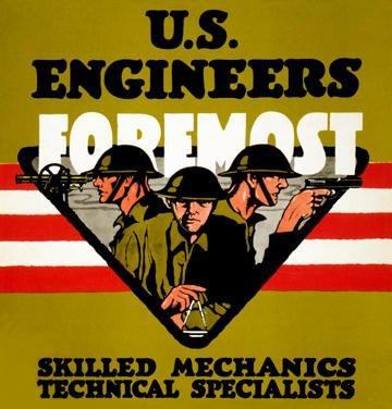 U.S. Engineers Foremost poster