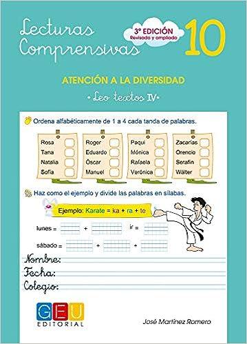 Lecturas comprensivas 10 - Leo Textos IV: Amazon.es: José Martínez Romero: Libros