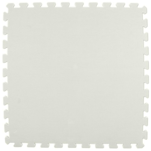 Greatmats Interlocking Foam Mat 2' x 2' x 5/8'' (White, 25 mats - 100SF - (each mat 24''x24''x5/8'')) by Greatmats.com