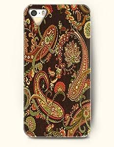OOFIT Apple iPhone 5 5S Case Paisley Pattern ( Vintage Sienna Paisley Pattern )