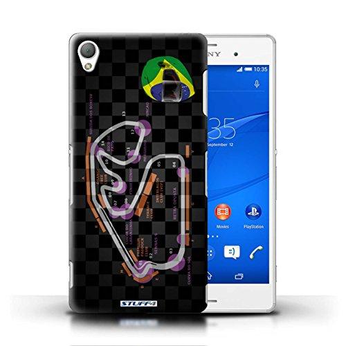 Kobalt® Imprimé Etui / Coque pour Sony Xperia Z3 / Brésil/São Paulo conception / Série 2014 F1 Piste