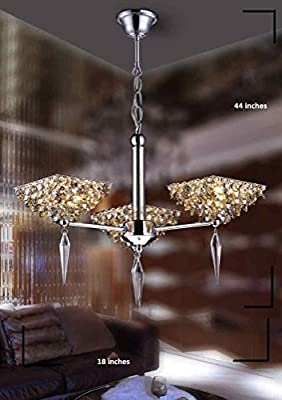 Lumos Modern Crystal Chandelier/Ceiling Lighting Fixture/ Pendant Light for for Living Room /Dining Room/ Foyer /Bedroom ...