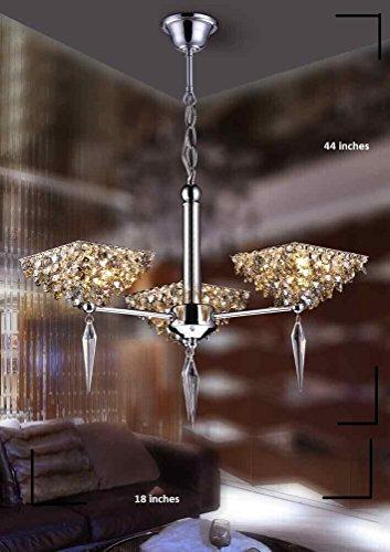 Lumos Modern Crystal Chandelier/Ceiling Lighting Fixture/ Pendant Light for for Living Room /Dining Room/ Foyer /Bedroom … (3 Lights)