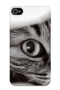 Charlesvenegas Clvukq-2065-dphnqvt Case For Iphone 4/4s With Nice Cats Mimi Monochrome Appearance