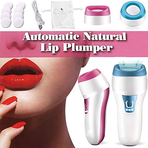 Automatic Lip Plumper Device Electric Thicker Lips Plumping Tool,USB 3 Speed Timed Treatment Lip Pump Enhancer Bigger Thicker Plumper (Best Permanent Lip Plumper)