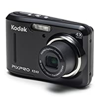 Kodak PIXPRO FZ43 Digital Camera (Black) + 16GB Memory Card + Deluxe Point and Shoot Camera Case + Extendable Monopod + Lens Cleaning Pen + LCD Screen Protectors + Table Top Tripod – Top Valued Bundle by Kodak