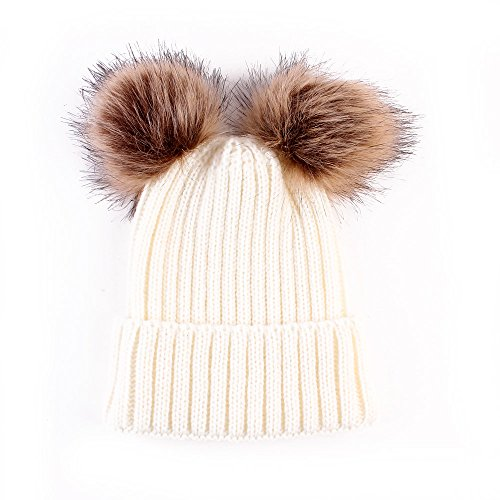 (Baby Winter Warm Hat, Baby Newborn Knit Hat Infant Toddler Kid Crochet Hat Beanie Cap (Beige))