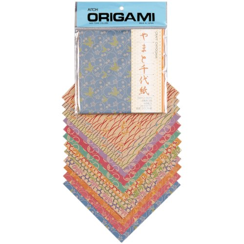 Aitoh Craft Chiyogami Origami Paper, 5.875 by 5.875-Inch, 48 ()
