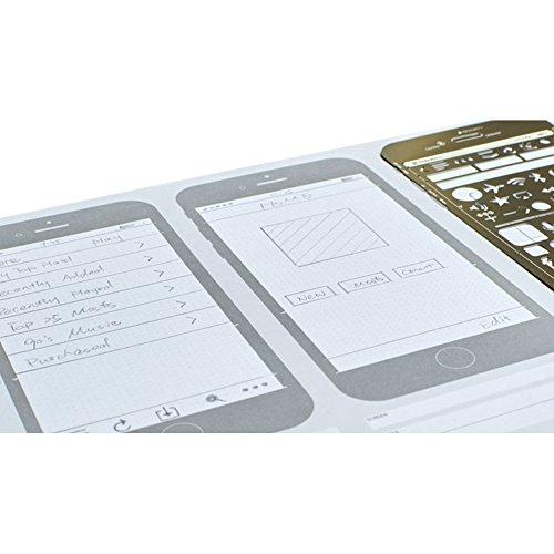 OLizee Creative iPhone 6 Sketch Pad Stencil Kit for App Design UI Design by OLizee (Image #5)