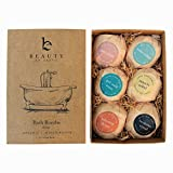 bath bombs gift set - 6 large natural & organic, birthday gifts for women, bath bomb gifts for her,
