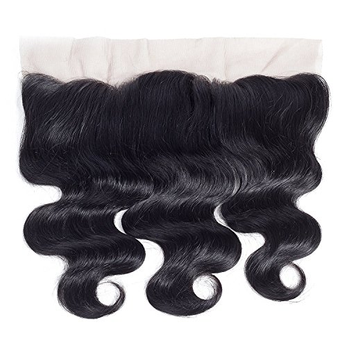 Amella Hair 10A Brazilian Body Wave Frontal(16 18 20+14 Frontal) Bundles with Frontal Ear to Ear Lace Frontal Closure with Bundles Brazilian Body Wave Frontal with Baby Hair Natural Black Color by Amella hair (Image #4)'