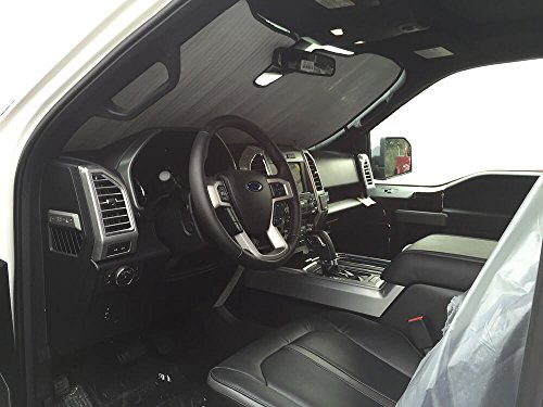 - The Original Windshield Sun Shade, Custom-Fit for Ford F-150 Truck (Crew Cab) w/Sensor 2015, 2016, 2017, 2018, 2019, Silver Series