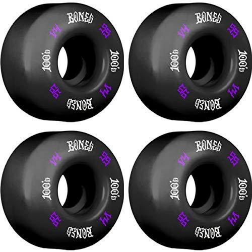 【驚きの値段】 Bones Wheels 100a V4 100's OG #12 V4 ブラック Bones パープル/ホワイト スケートボードホイール - 55mm 100a (4個セット) B07JHJW71P, ミュゼデュ:8cf68f29 --- mvd.ee
