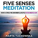 Five Senses Meditation: Create a Stress-Free and Mindful Lifestyle in Five Minutes a Day Speech by Marta Tuchowska Narrated by Kim Holmes