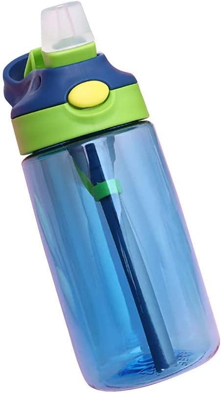 Travel with Straw Children Cup Home Water Bottle School Leak Proof Kids Water Bottle with Straw and Handle