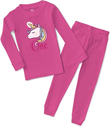 Birthday Pyjamas Pj's Girl Boy Personalised with name Set Blue Pink Nightwear