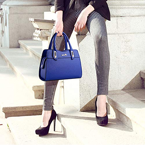 Shopping Cabas De Bandoulière Blue Voyager Lijinjing Pu Capacité Fashion À Grande Cuir Sac Femmes 70wPCx