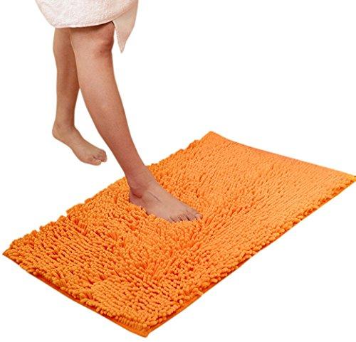 Microfiber Chenille Bathroom Rugs Carpet Shag Non Slip Shower Soft Plush Absorbent Bath Mat Rug for Bathroom, Dorm Room,Kitchen Roon, Tub Mats Skidproof Doormat Shaggy (Dorm Roon)
