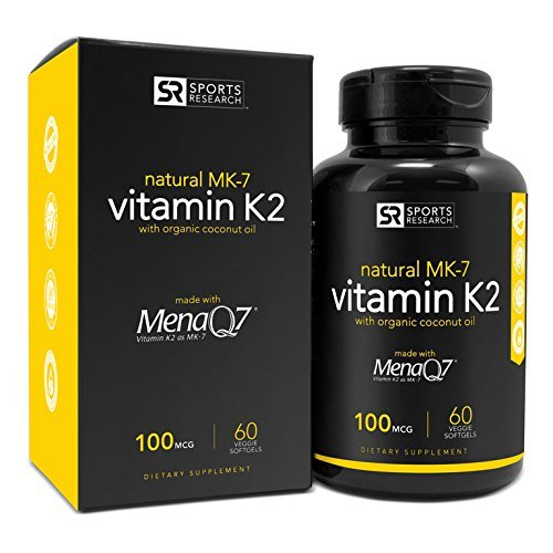 Vitamin K2 (MK7) 100mcg in Cold-Pressed Organic Coconut for sale  Delivered anywhere in USA