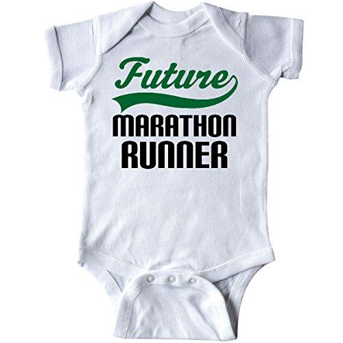 Inktastic - Marathon Runner Gift Childs Infant Creeper Newborn White
