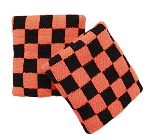 Checkered Wristband Sweatband PAIR (Neon ()