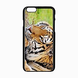 iPhone 6 Black Hardshell Case 4.7inch tiger rest predator Desin Images Protector Back Cover