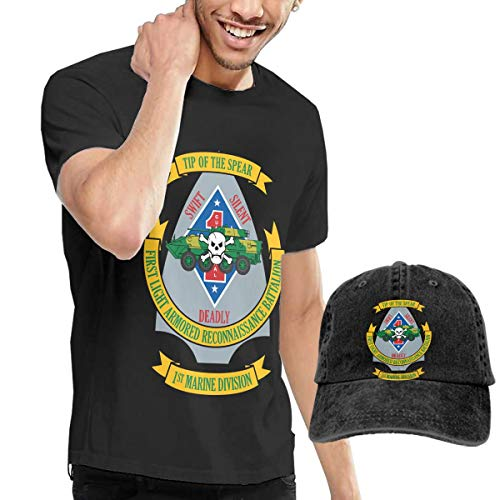 - KFR&KNED 1st Light Armored Reconnaissance Battalion Mens Comfortable Short Sleeve Tee and Washed Baseball Cap