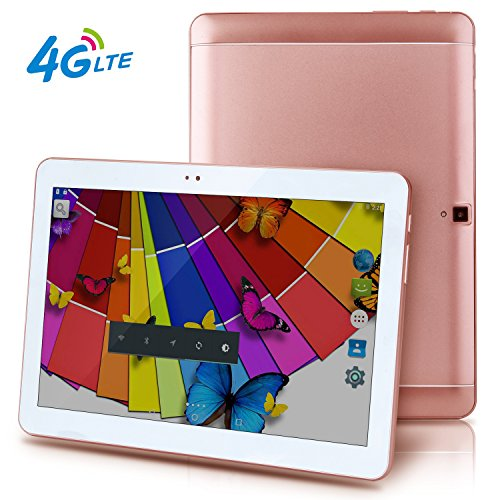 4G LTE 10.1 inch Tablet Octa Core 25601600 IPS Bluetooth RAM 4GB ROM 64GB 8.0MP 4G Dual sim card Phone Call Tablets PC Android 6.0 GPS electronics 7 9 10 Rose gold (Built In 3g Tablet)