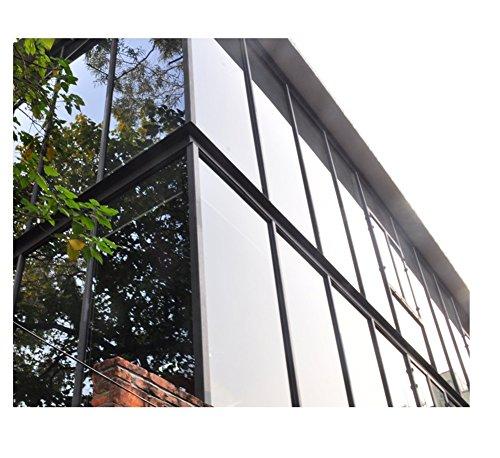 Yzakka Light Filtering Window Film Anti UV No Glue Sun Control Heat Control Residential Window Films for Glass Self Adhesive for Home Bedroom Bathroom Kitchen Office Dark, 27.6-Inch by 16.4-Feet by Yzakka (Image #4)'