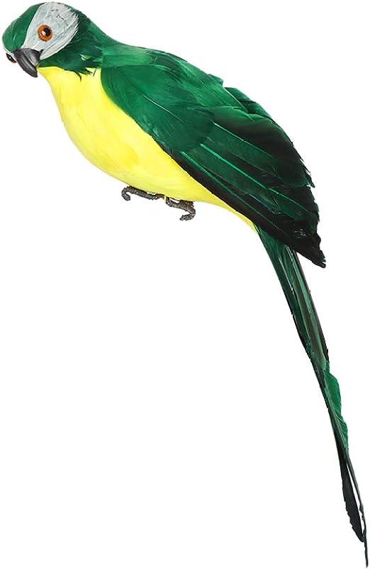 Handmade Simulation Parrot Feather Lawn Figurine Ornament Bird Bird Decoration
